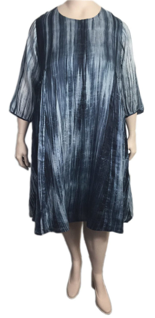 Bianco Levrin Plus Size Silk Tie Dye Dress
