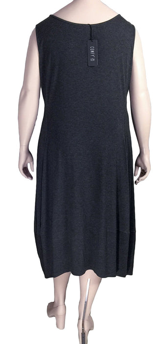Comfy USA Plus Size Lisa Dress - BACK VIEW