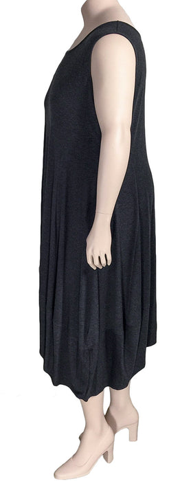 Comfy USA Plus Size Lisa Dress - SIDE VIEW