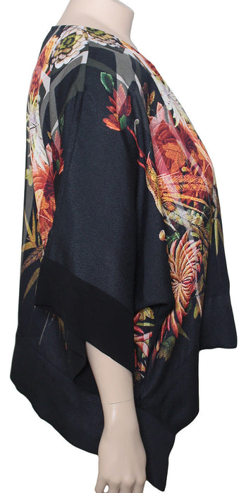 Dressori Silk Print Crop Jacket
