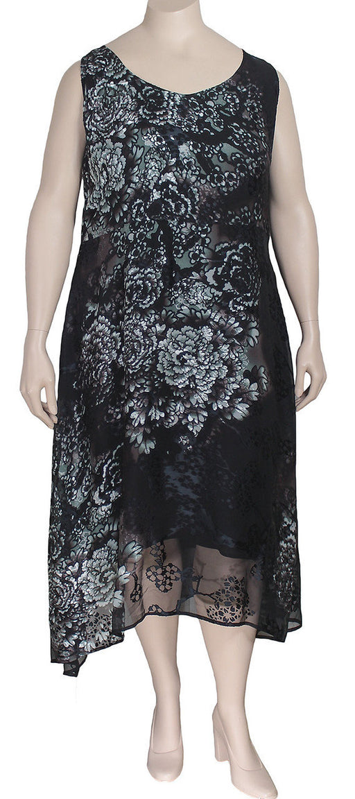 Dressori Black Silk Burnout Dress
