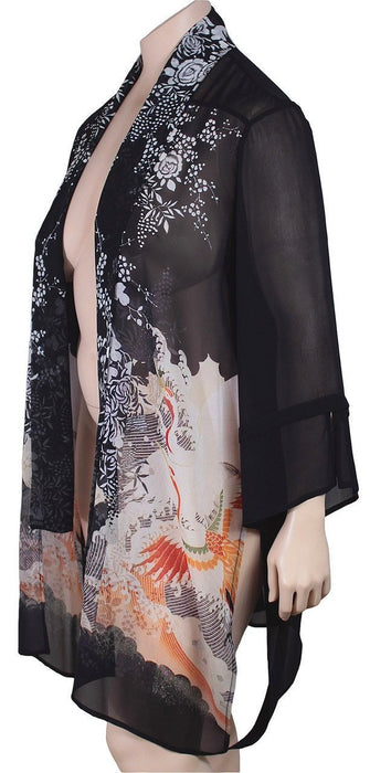 Dressori Silk Shawl Collar Duster