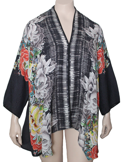 Dressori Plus Size Silk Trapeze Jacket