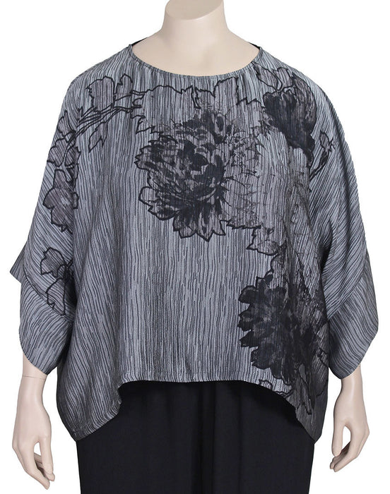 Dressori Silk Jacquard Cropped Top