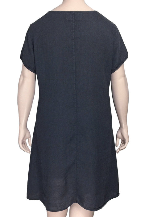 Grizas A-Line Linen Tunic Dress