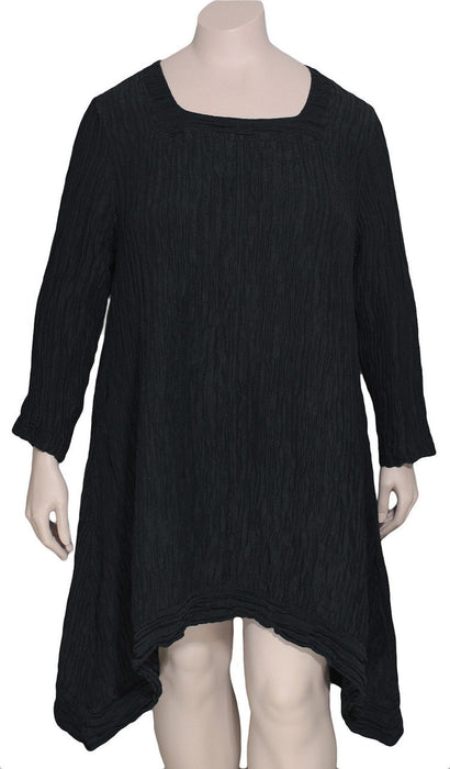 GRIZAS Silk Linen Square Neck Tunic / Dress