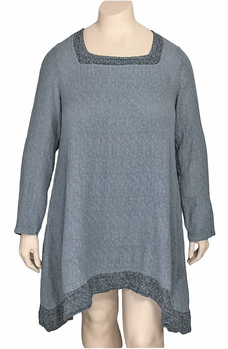 Grizas Cotton Linen Square Neck Tunic