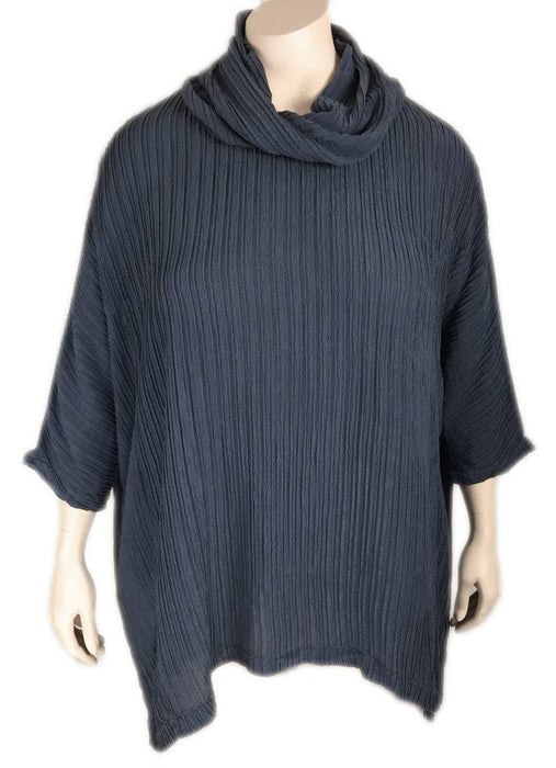 Plus Size Grizas Silk Cowl Neck Top
