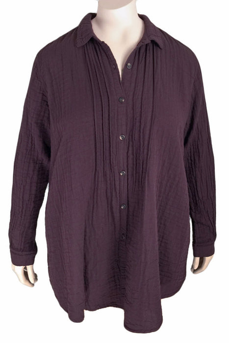 Kleen Plus Size Double Layer Cotton Shirt