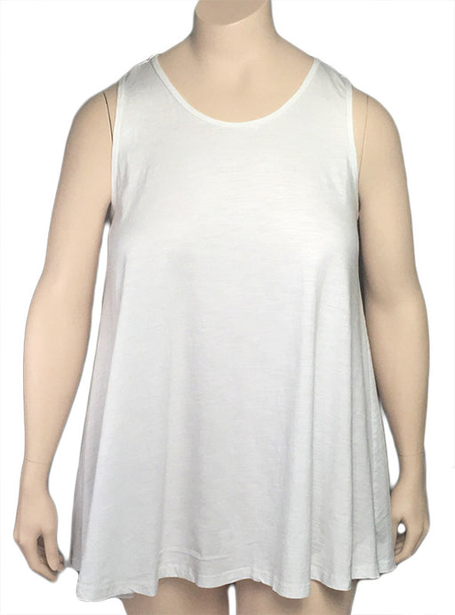 Kleen White Cotton Jersey Swing Tank