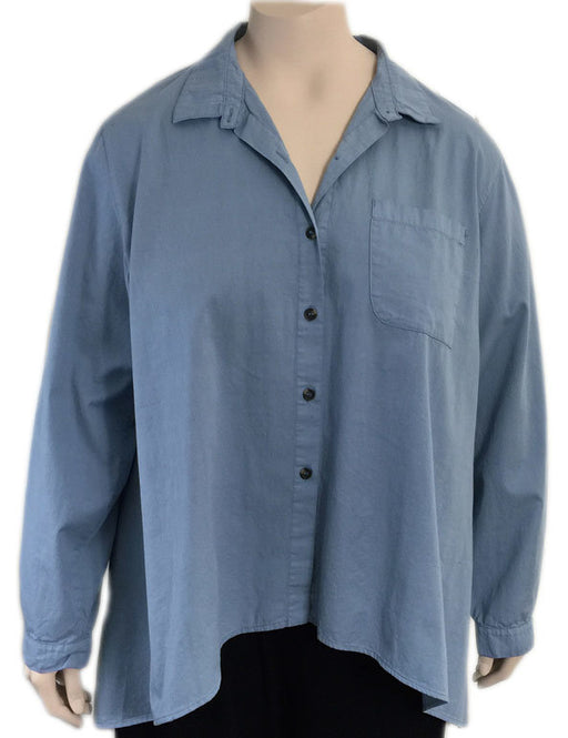 KLEEN High Low Cotton Boyfriend Shirt