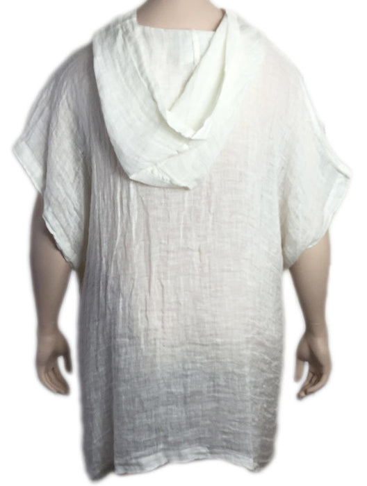 La Fixsun by Match Point Linen Mesh Hooded Poncho