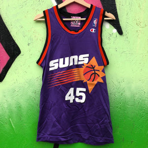 Champion A.C. Green Phoenix Suns Purple Basketball Jersey