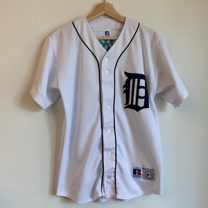 Russsll Athletic Detroit Tigers White Baseball Jersey