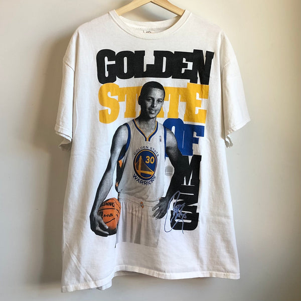 Stephen Curry Golden State Warriors White Tee Shirt