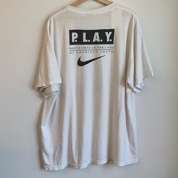 Nike P.L.A.Y 1996 State Games Of Oregon White Tee Shirt