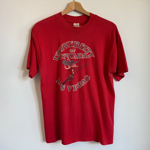 1980s UNLV Runnin' Rebels Red Tee Shirt