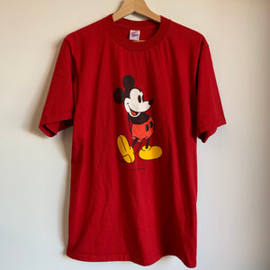 Disney Mickey Mouse Red Tee Shirt