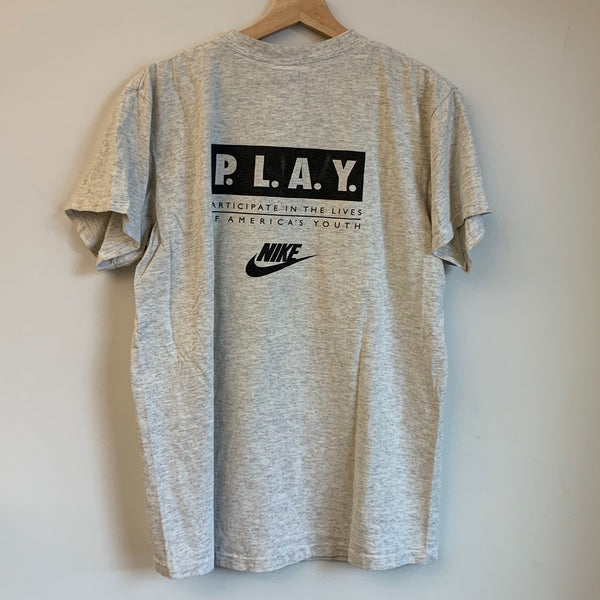Nike Gray Tag P.L.A.Y. Spokane Clydesdales Racing Team Tee Shirt