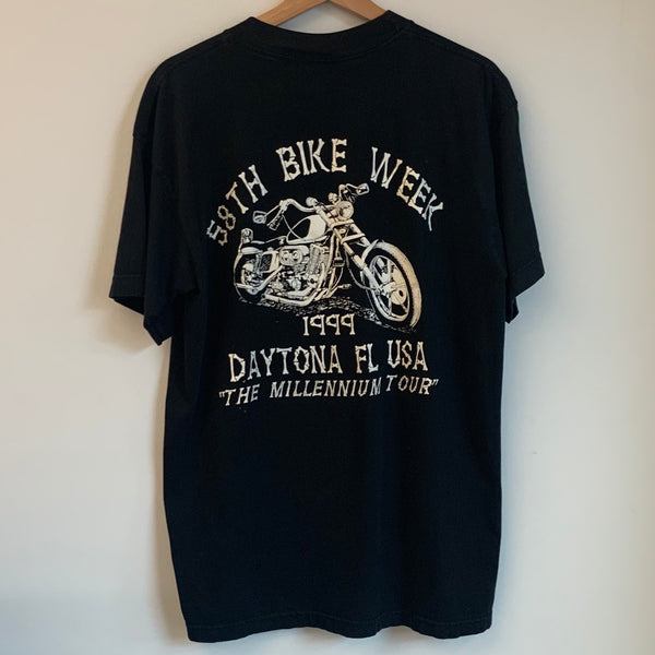 1999 Millennium Tour Daytona Florida Black Tee Shirt