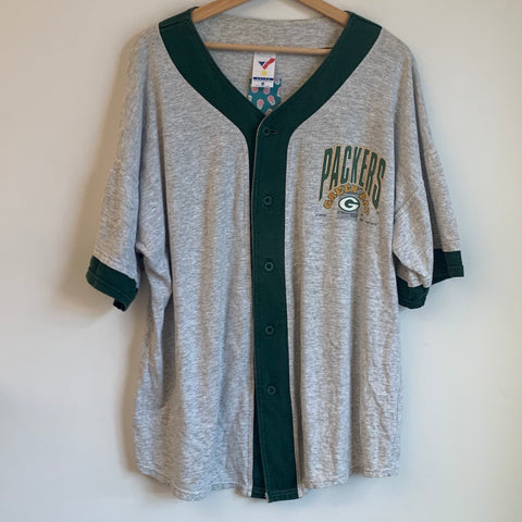 1992 Artex Sportswear Green Bay Packers Gray Baseball Jersey