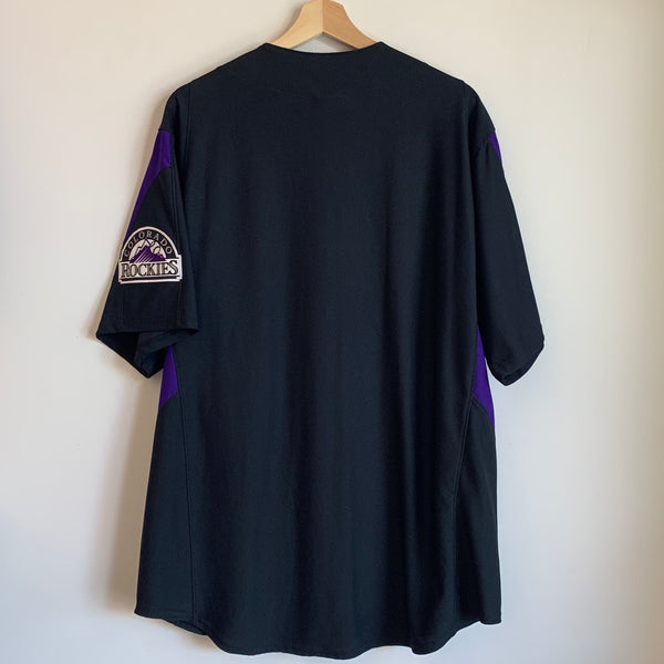Majestic Colorado Rockies Black Baseball Jersey