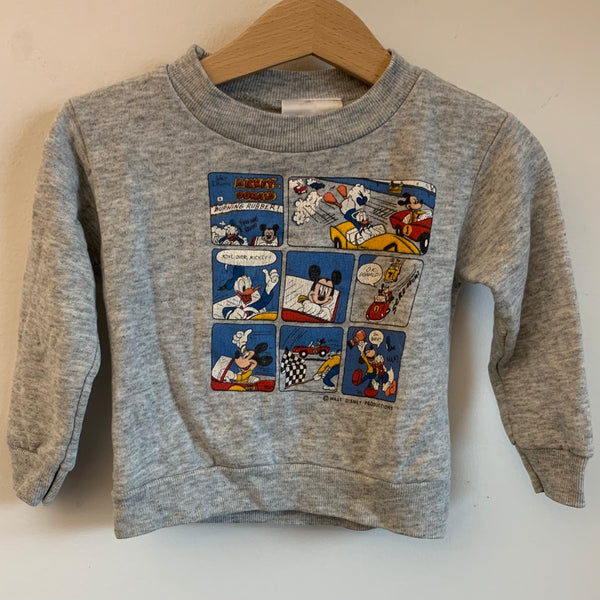 Walt Disney Mickey Mouse & Donald Duck Toddler Crewneck Sweatshirt