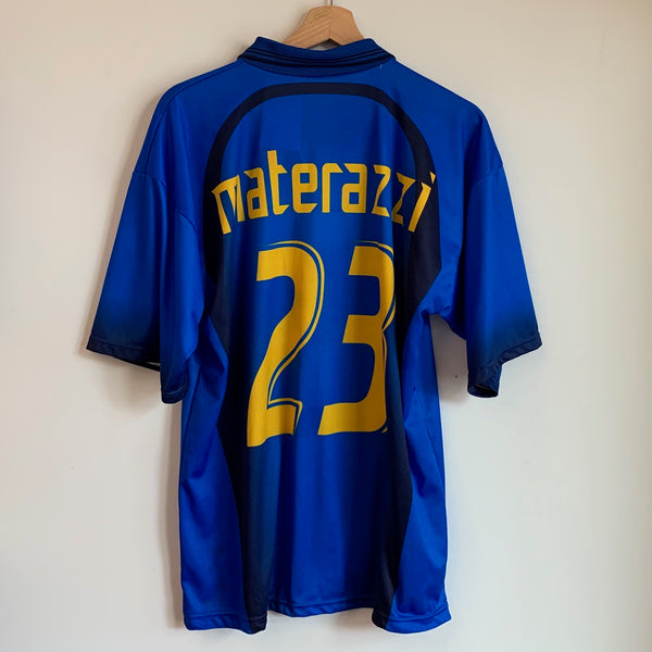 Marco Materazzi Italy Blue Home Soccer Jersey
