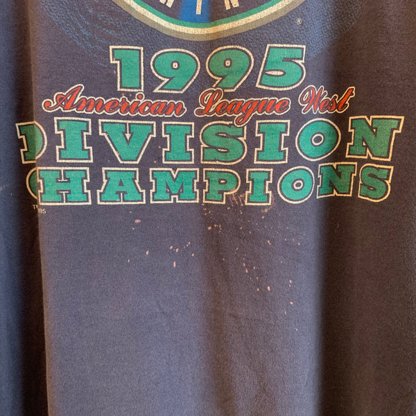 1995 Seattle Mariners West Division Champions Navy Shirt