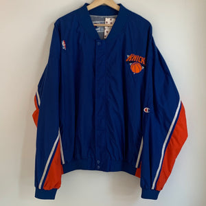 Champion New York Knicks Blue/Orange Warmup Jacket