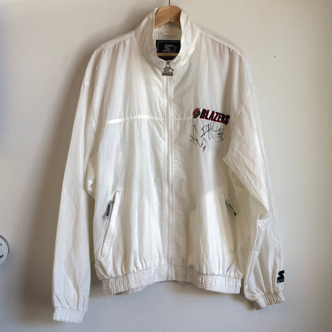 Starter Portland Trail Blazers White Windbreaker Jacket