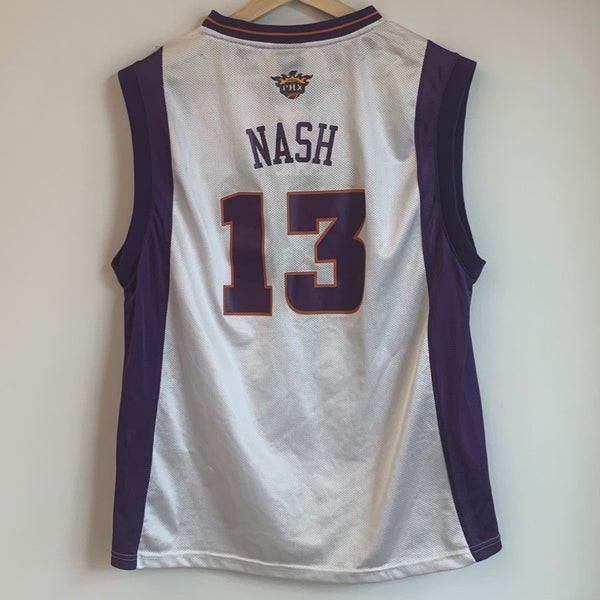 Adidas Steve Nash Phoenix Suns White Youth Basketball Jersey