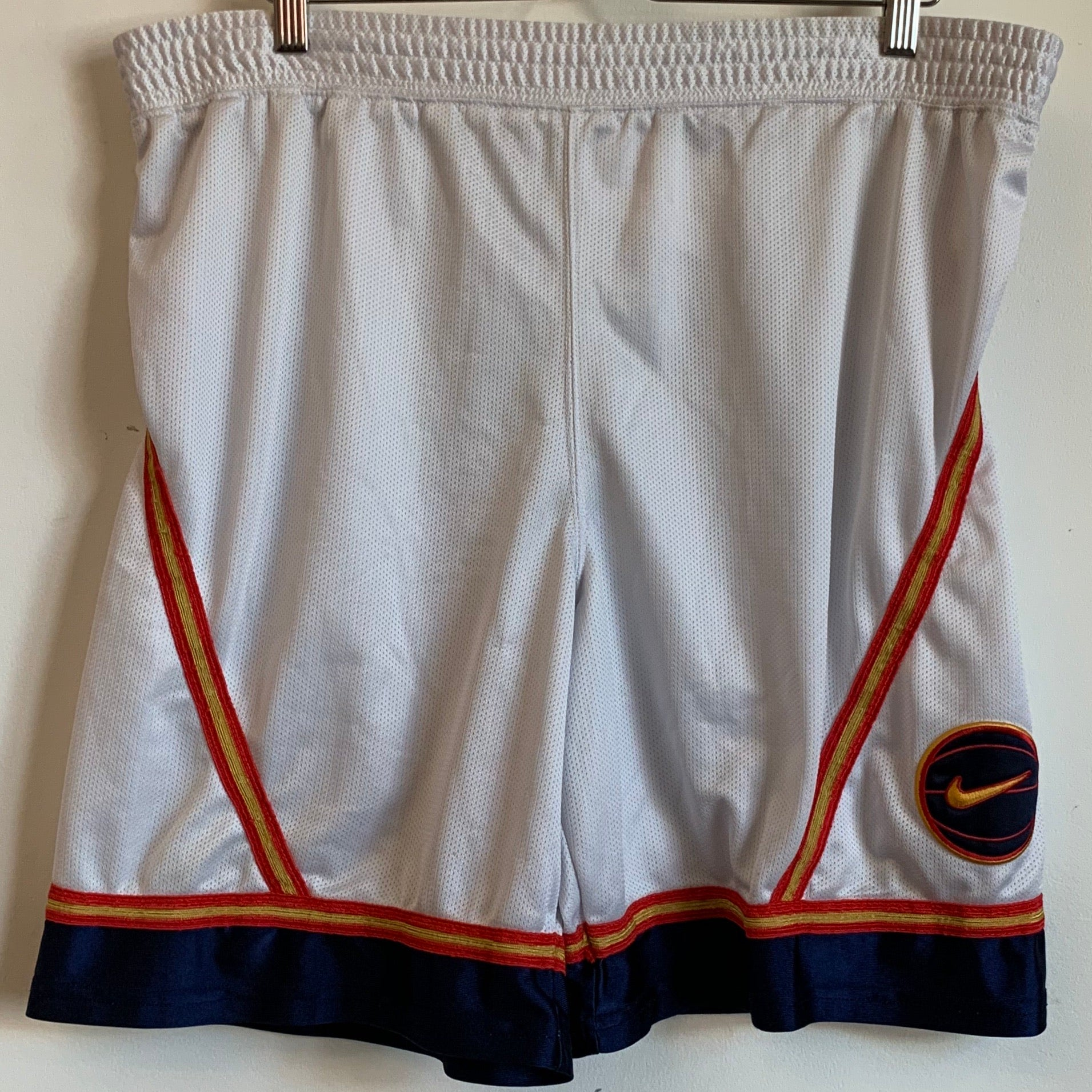 Nike Basketball White/gold Mesh Shorts