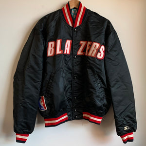 Starter Portland Trail Blazers Black Satin Jacket