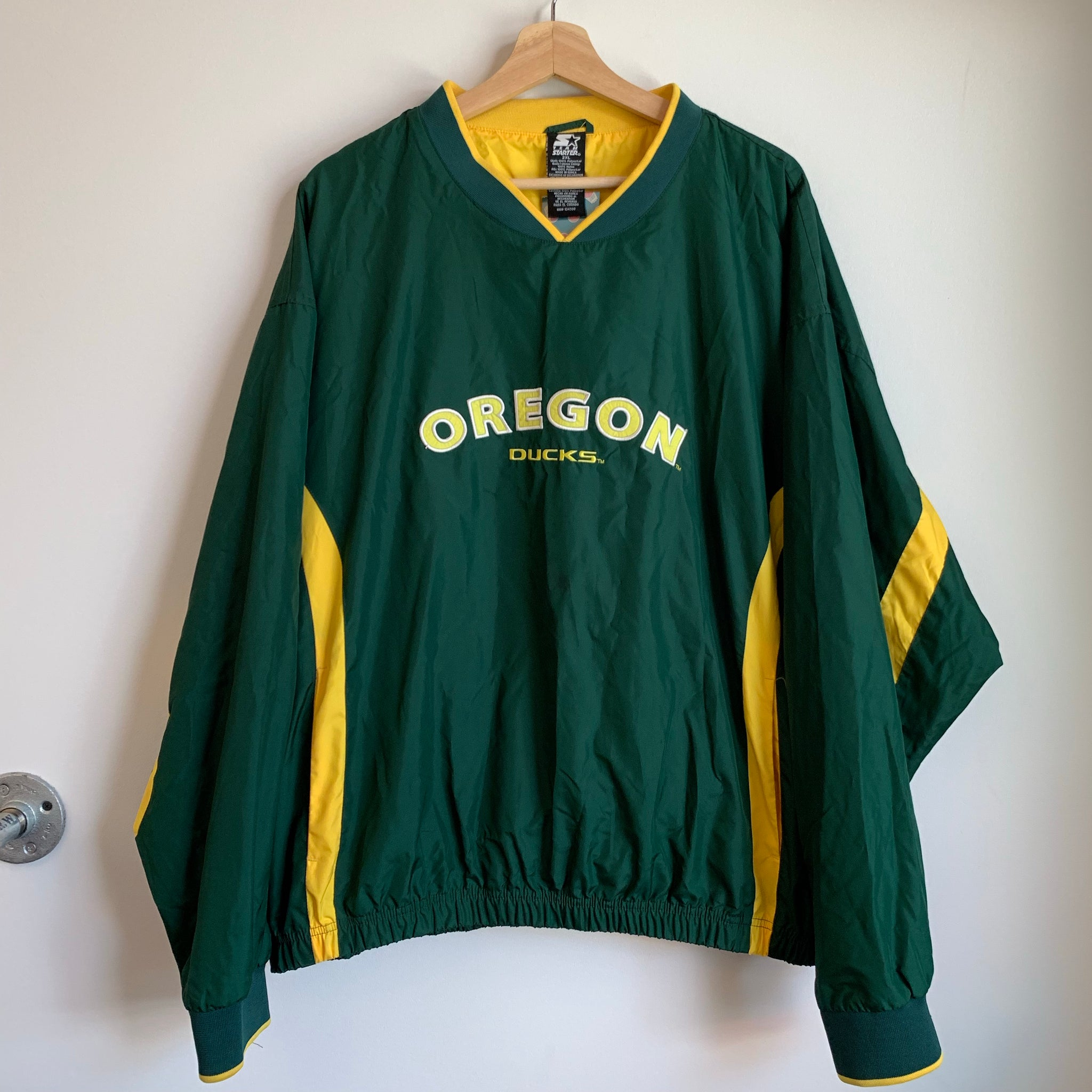Starter Oregon Ducks Pull Over Jacket