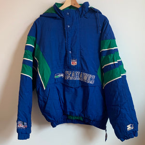 Starter Seattle Seahawks Blue Parka Jacket