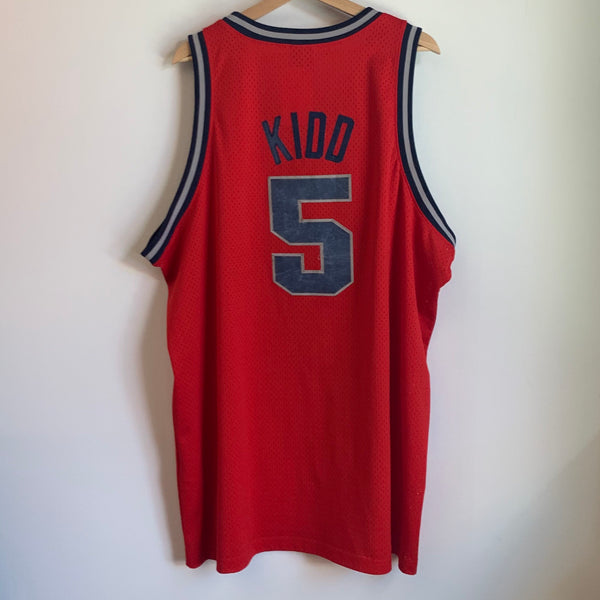 Nike Jason Kidd New Jersey Nets 1977 Rewind Red Swingman Basketball Jersey