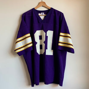 Logo 7 Minnesota Vikings Purple Football Jersey