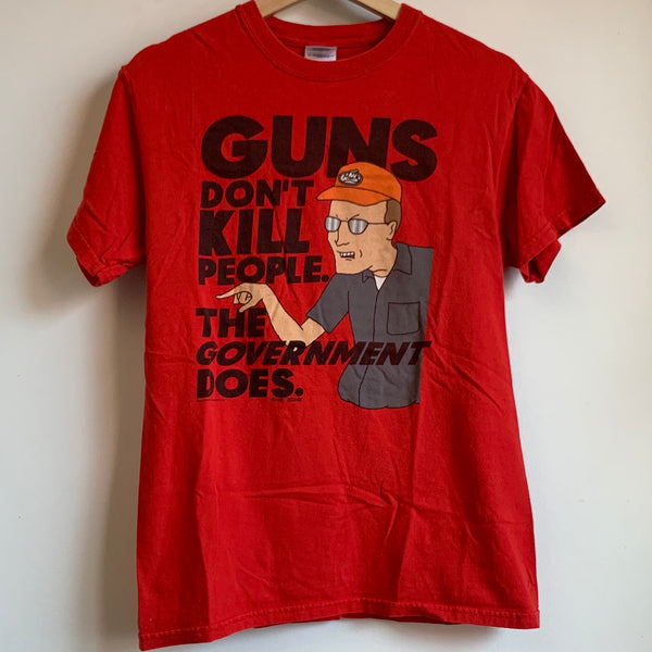 "King Of The Hill Dale Gribble ""Guns Don't Kill People"" Tee Shirt"