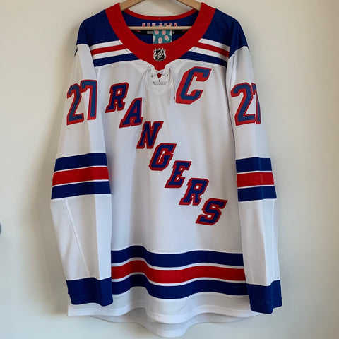 adidas Ryan McDonagh New York Rangers White Hockey Jersey w/ Fight Strap