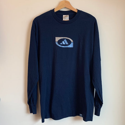 Adidas Blue Long Sleeve Tee Shirt