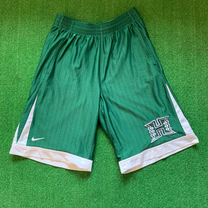 Nike Hawaii University Green Basketball Shorts