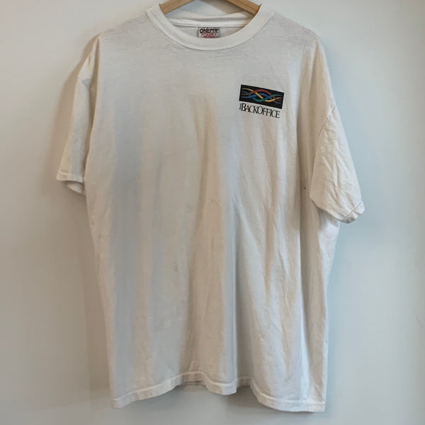 Microsoft Back Office White Tee Shirt