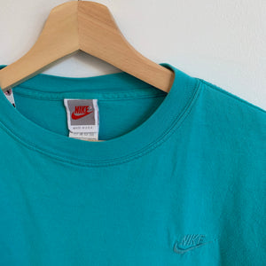 Nike Gray Tag Embroidered Teal Tee Shirt