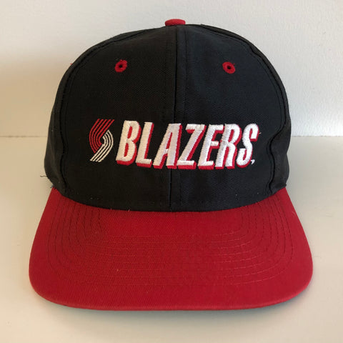 Competitor Portland Trail Blazers Black & Red Snapback