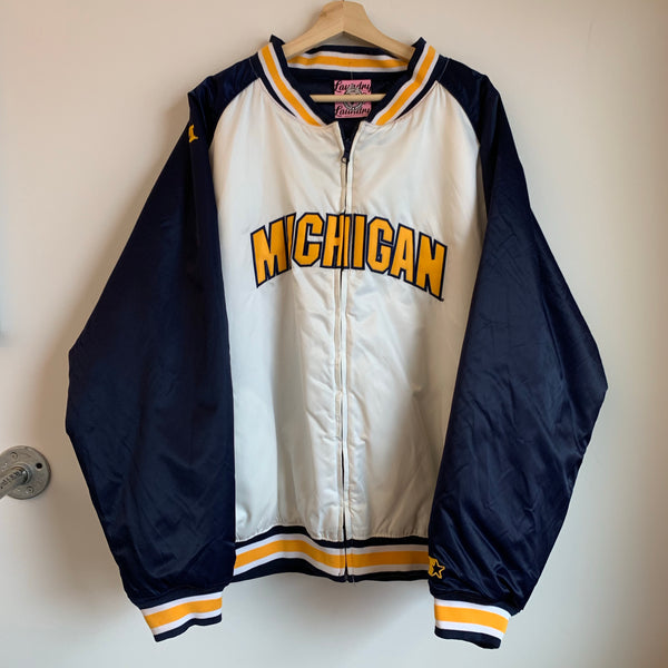 Starter Michigan Wolverines Reversible Satin Jacket