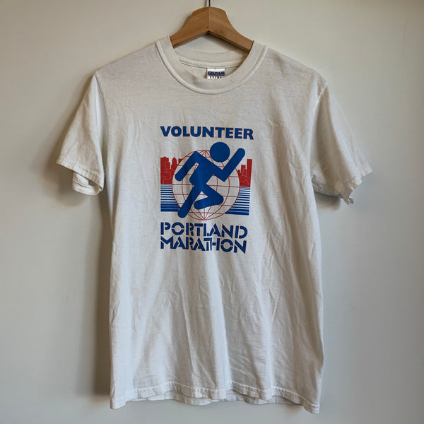 Portland Marathon Volunteer White Tee Shirt