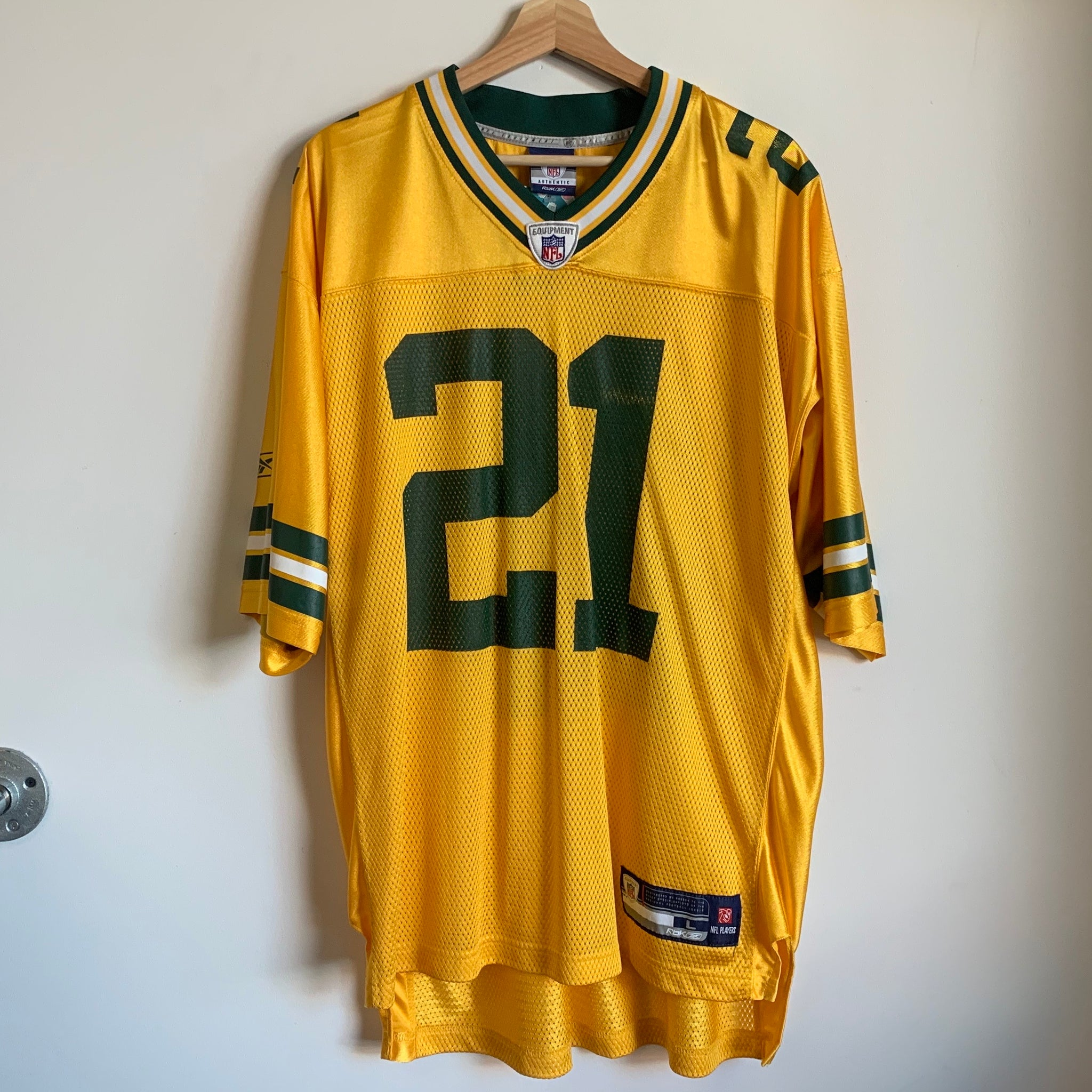 Reebok Charles Woodson Green Bay Packers Yellow Football Jersey