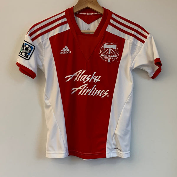 Adidas Portland Timbers Red Youth Soccer Jersey