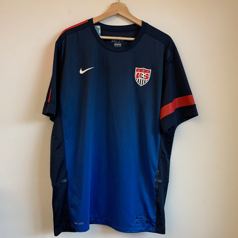 Nike USMNT Navy Blue/Red/White Soccer Jersey